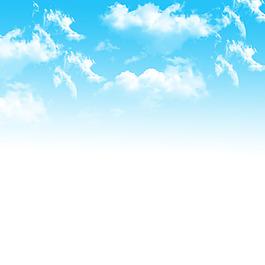蓝天白云渐变背景