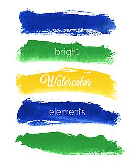 水彩涂鴉橫幅矢量模板