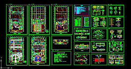 展示廳CAD施工圖