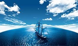 藍天大海素材