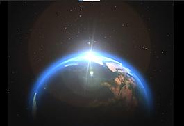 地球星光片頭視頻素材