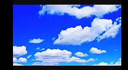 藍天白云視頻素材