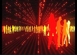 人物剪影舞蹈視頻素材