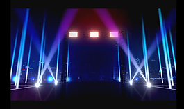 三維舞臺燈光視頻素材