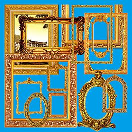 歐式邊框     金色邊條     畫框