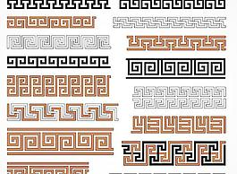 AI格式古典花紋素材