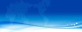 藍色會議展板背景