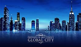 城市夜景高樓