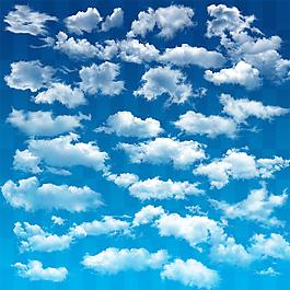 蓝天白云云朵素材PSD