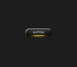 高檔奢華酷炫金色高光的按鈕