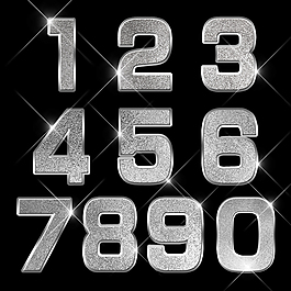 金屬藝術數字