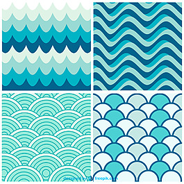 藍色水波紋背景矢量設計素材AI