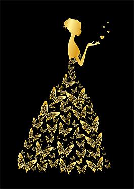 女人 蝴蝶 婚紗 CDR