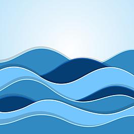海浪圖案圖形
