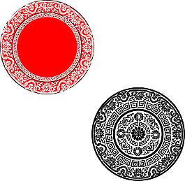 圓形花紋圖案