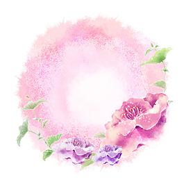 水彩清新花卉素材