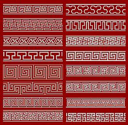 16款中國風復古邊框圖案矢量素材