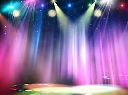 婚礼舞台背景LED七彩灯光视频
