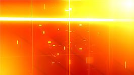 橙色光效元素