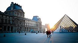 歐洲建筑淘寶海報背景素材