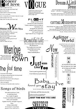 英文字體排版設計