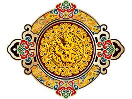 金色龍紋產品封面psd設計素材