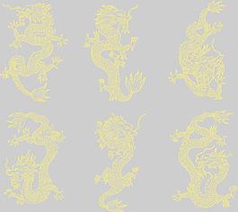 各種矢量龍紋