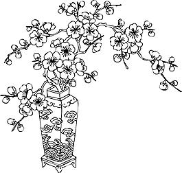 梅花矢量圖