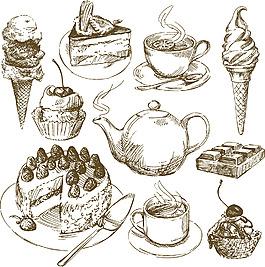 手繪食物矢量素材
