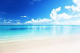 藍天大海背景圖片