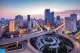 城市道路夜景