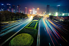 美麗城市公路道路風景圖片圖片
