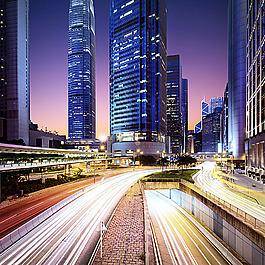 城市道路背景