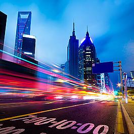 城市馬路夜景