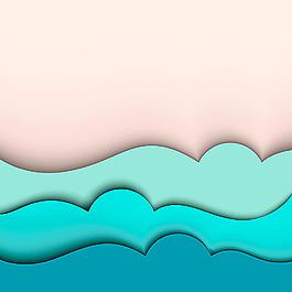 海浪紙板花邊拼接背景