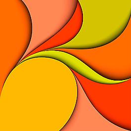 彩色卡紙藝術拼接背景