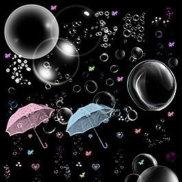 泡泡雨伞气泡