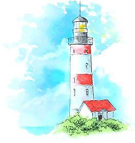 海邊的燈塔