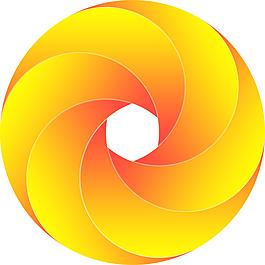 圓形漸變6分環圖標