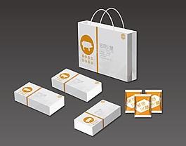 火腿包装套装 手提袋 包装盒 包装袋