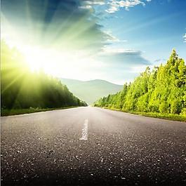 公路藍天太陽主圖背景