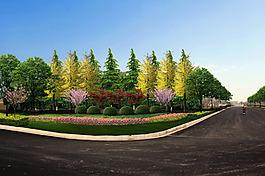 道路 景觀 綠化 設計圖