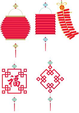 新年红色灯笼素材