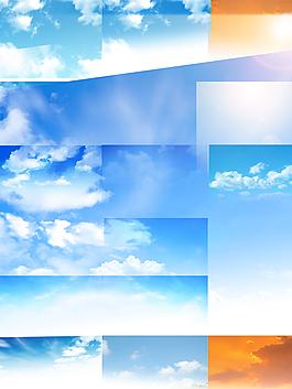 天空白云PSD分层