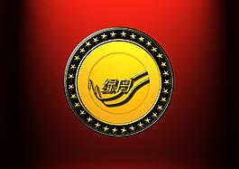 圓形徽章素材