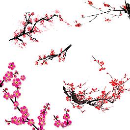 水墨梅花 中国元素 中国风素材图片