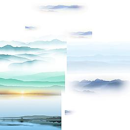 水墨山水背景图片
