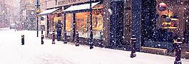 下雪場景雪地背景