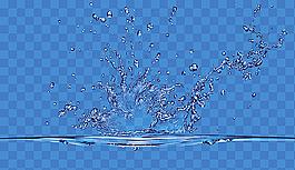 水花PSD分層素材圖片