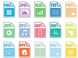 常見格式icon 圖標圖片